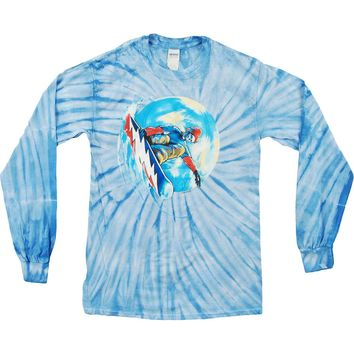 Grateful Dead Men's  Grateful Shred Tie Dye  Long Sleeve Multi