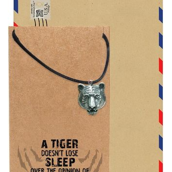 Ephraim Tiger Necklace, Jewelry Gift for Women, Inspirational Gift with Greeting Card