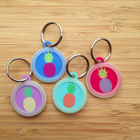 Personalized Pineapple Tag - Pet ID Tag for Dogs and Cats