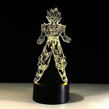 Dragon Ball 3D LED Table Night Lights Lamp For Kid's Room