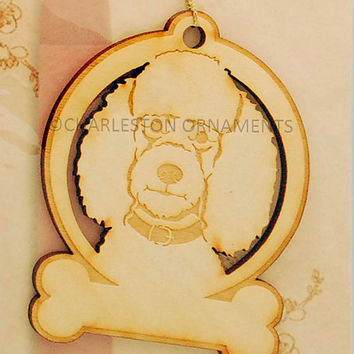 Engraved Wooden Custom Poodle Ornament PERSONALIZED FREE Poodle Christmas Ornament,  Poodle Gift Topper, Poodle Ornament