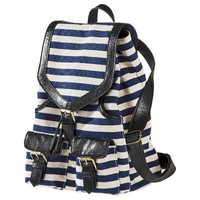 Bueno Stripe Canvas Backpack - Navy/Black