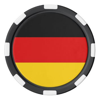Poker chips with Flag of Germany