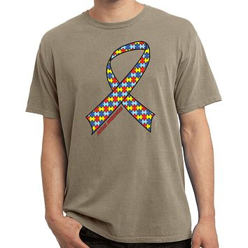 Autism Ribbon Pigment Dyed Shirt