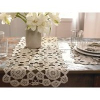 Modern Countryside Crochet Table Runner 13in x 39in- Country Living-For the Home-Linens-Runners