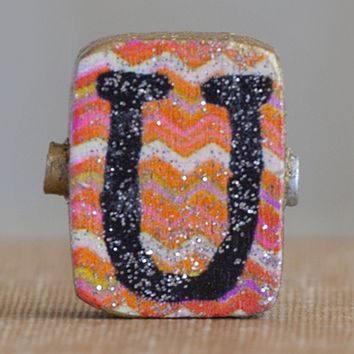 """U""  Gypsy  Girl  Letter  Magnet  From  Natural  Life"