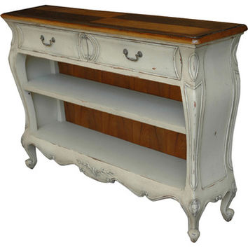 AFD Home Continental Bookcase In Rustic White