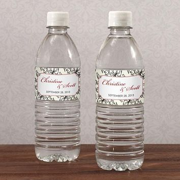 Eclectic Patterns Water Bottle Label Vintage Pink (Pack of 1)