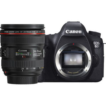 Canon EOS 6D Kit with EF 24-70mm f4L IS Lens Digital SLR Cameras(International Ver.)(Support Multi Language)
