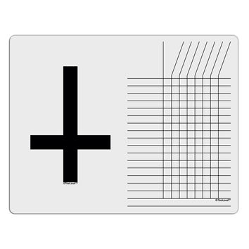 Inverted Cross Chore List Grid Dry Erase Board
