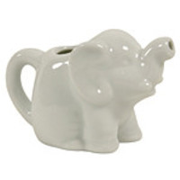 Tea and Coffee Accessories For the Coffee Connoisseur Mini Elephant Creamer 2 oz., White