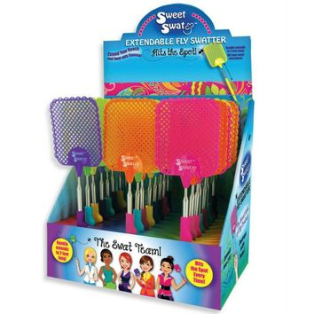 Sweet Swat SWT-SWAT Extendable Fly Swatter, Assorted Neon Color