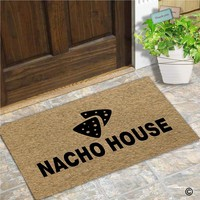 Autumn Fall welcome door mat doormat Funny  Entrance Front  Nacho House Home  Indoor Outdoor Decor   Rubber Backing Mat 30x18 Inch AT_76_7