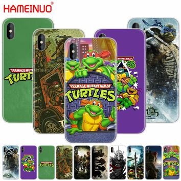 HAMEINUO TMNT Teenage Mutant Ninja Turtles cell phone Cover case for iphone X 8 7 6 4 4s 5 5s SE 5c 6s plus