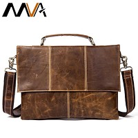 Genuine Leather Handbags Satchels Men Shoulder Bags Messenger Bag Leather Men Bag Laptop Crossbody Bags