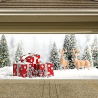 Christmas Garage Door Cover Banners 3d Holiday Outside Decorations Outdoor Decor for Garage Door G56
