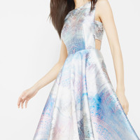 Dreamscape cut-out midi dress - Lilac | Dresses | Ted Baker UK