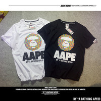 'AAPE' Summer Round-neck Pullover Cotton Short Sleeve T-shirts [10425653767]