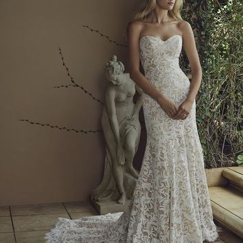 Casabanca Bridal Water Lily 2226 Strapless Lace Fit & Flare Wedding Dress