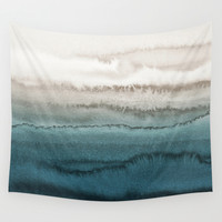 WITHIN THE TIDES - CRASHING WAVES Wall Tapestry by Monika Strigel
