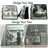 I Love Lucy Totebag Book Bag Design Your Tote Carry-On Storage Computer bag Lucille Ball purse fanart tote