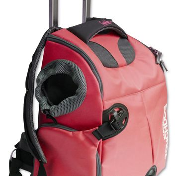Touchdog Wuffle Duffle Wheeled Backpack Pet Carrier