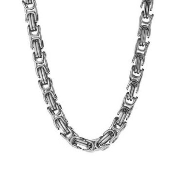 6mm Stainless Steel Byzantine Box Chain