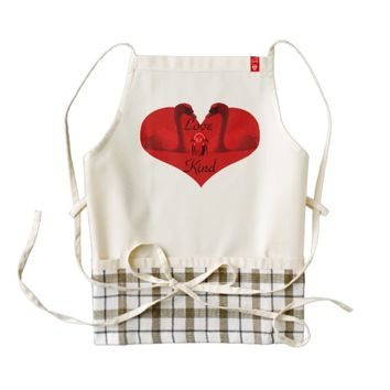 Love Bee Kind Red Swans Zazzle HEART Apron