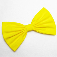 Bright Yellow Hair Bow for girls hairbow bows for hair accessories Yellow Bow Yellow Hair Clip big bow fabric bow women's clip in bow Lolita