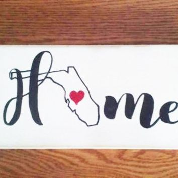 Home state sign - Custom state sign - Personalized state sign - Farmhouse state sign - Gallery Wall - Entryway sign - Housewarming gift