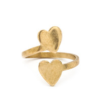 Double Love Adjustable Ring