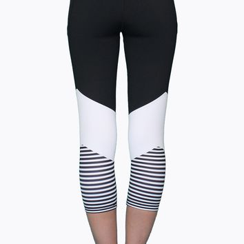 Black and White Stripes Just Right Activewear Bottom