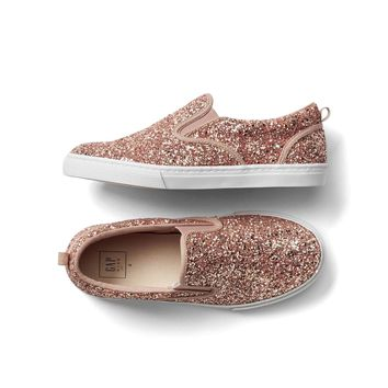 Glitter slip-on sneakers | Gap