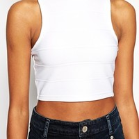 River Island Bandage Cropped Tank Top