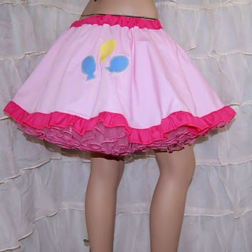 MLP Pinkie Pie Applique Circle Skirt Adult Large - MTCoffinz Ready to ship