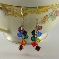 Chakra Earrings Healing Crystals on Sterling Silver
