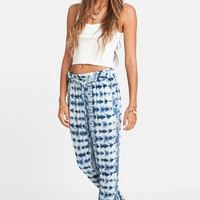 Junior Women's Billabong 'Turn Away' Print Beach Pants,