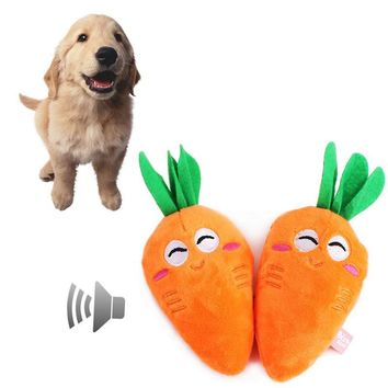 Pet Products carrot Shape Plush Dog Toy for Small Dogs L45