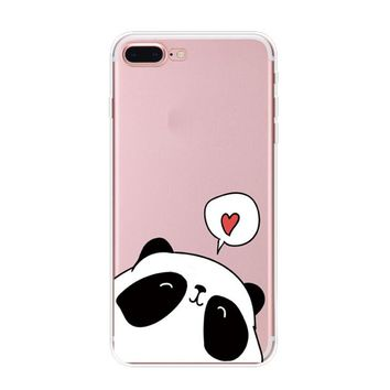 Confession Panda Case iPhone X 8 7 6s 6 Plus Cover with Gift Box