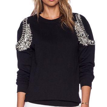 HEMANT AND NANDITA Crystal Sweatshirt in Black