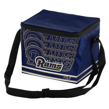 NFL St Louis Rams 6 pack Cooler Lunch Box Bag Insulated Football