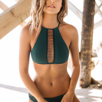 Acacia Swimwear || Malibu top in seaweed