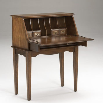 Franklin Pecan Drop Down Secretary Desk