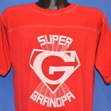 70s Super Grandpa Superman G Jersey t-shirt Large