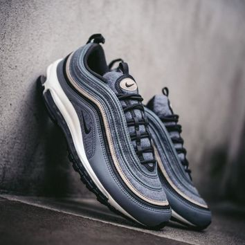 "Nike Air Max 97 Premium Retro Running Sneaker ""Blue Wood""312834-003"
