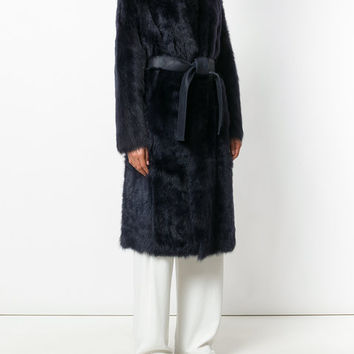 Yves Salomon Leather Belted Coat - Farfetch