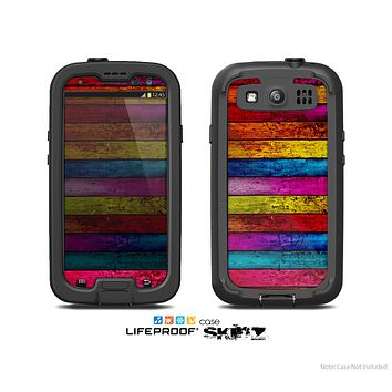 The Neon Color Wood Planks Skin For The Samsung Galaxy S3 LifeProof Case