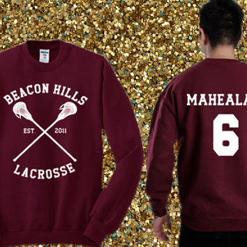 Beacon Hills Lacrosse - Danny Mahealani 06 Sweater , crewneck sweater available for men and woman unisex adult