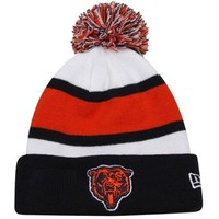 New Era Chicago Bears Youth On-Field Cuffed Knit Hat - Navy Blue/Orange