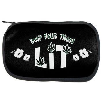 Marijuana Keep Your Trees Lit Makeup Bag
